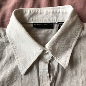 White and Silver Button Down